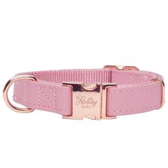 Rosa in Rose Gold Dog Collar Gold Dog Collar, Designer Dog Collars, Pet Tags, Dog Harness, Dusty Pink, Clothing Items, Gold Hardware, Fur Babies, Two By Two