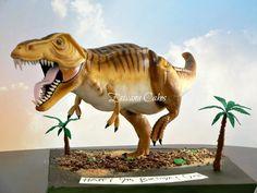 Gravity Defying Dinosaur Cake by erivana