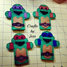 Teenage mutant ninja turtles finger puppets by yesikafae on Etsy, $10.00