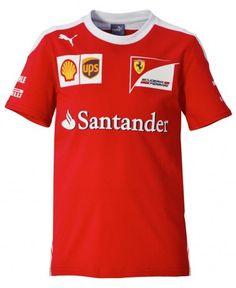 Official Scuderia Ferrari Kids Team T-Shirt. #F1