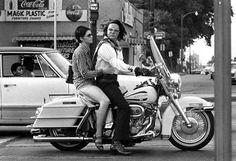Elvis Presley & Mary Kathleen Selph biking at the corner of South Parkway and Elvis Presley Blvd. - Memphis, TN