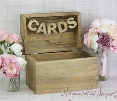 Rustic Card Box Country Wedding Barn Farm Garden Decor (Item Number 130012). $69.99, via Etsy.