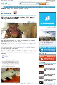 MSN NEWS  http://www.news.msn.ie/teddy-bear-lost-and-found-1272896-Jan2014/