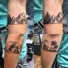 Arm band to commemorate a year traveling the world. Artist:Hanzi at Bloody Ink studio, Kuala Lampur : tattoos Rare Tattoos, Trendy Tattoos, Small Tattoos, Tattoos For Women, Tattoos For Guys, Forearm Tattoos, Arm Band Tattoo, Body Art Tattoos, Sleeve Tattoos