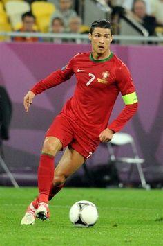 Cristiano Ronaldo, captain of the Portugal national football team.