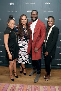 "Dawn-Lyen Gardner, Ava DuVernay, Kofi Siriboe and Rutina Wesley attend OWN's private New York screening of ""Queen Sugar"" at Crosby Street Hotel on September 1, 2016 in New York City"