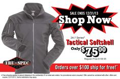24/7 Tactical Softshell sale ends 12/31/2013. Shop Now!  Only $75