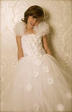 Flower girl Tutu Dress...Birthday Tutu Dress.. by TrendyBambini