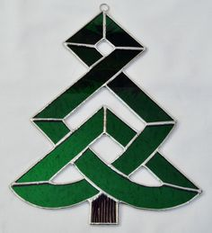 Celtic Christmas tree ~ pretty stained glass, would love to have this one!