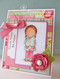I love these Pure Innocence stamps, pretty card.