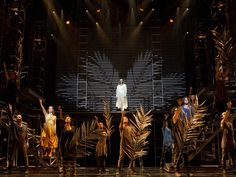 """JESUS CHRIST SUPERSTAR - BROADWAY  Andrew Lloyd Webber and Tim Rice's rock opera returns to Broadway.  ABOUT THIS PHOTO:  Paul Nolan as """"Jesus"""" and the cast of """"Jesus Christ Superstar"""""""