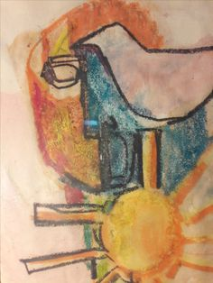 S. Maguire Original Abstract Watercolor Painting