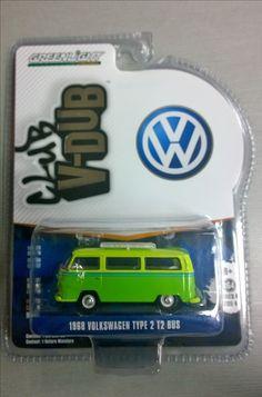 1976 VW T2 Double Cab STP DoKa **** Greenlight V-Dub 1:64 NEU