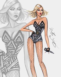 #Hayden Williams Fashion Illustrations.  #Happy Birthday Beyoncé - by Hayden Williams.