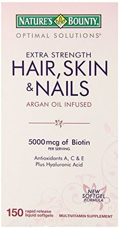 Natures Bounty Optimal Solutions Hair Skin  Nails Softgels 500 Count Bountydr -- Find out more about the great product at the image link.