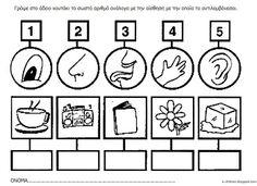 Los Niños: ΟΙ 5 ΑΙΣΘΗΣΕΙΣ - Φύλλα Εργασίας και Πίνακες Αναφοράς