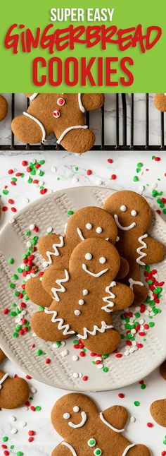 This super easy Gingerbread Cookies recipe is perfectly spiced and is easily one of our favorite Christmas cookies to make during the holidays. Easy Gingerbread Cookie Recipe, Rolled Sugar Cookie Recipe, Chewy Gingerbread Cookies, How To Make Gingerbread, Ginger Bread Cookies Recipe, Gingerbread Recipes, Gingerbread Cupcakes, Gingerbread Houses, Cookie Desserts