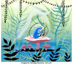 Mary Blair, Alice In Wonderland 1951, Adventures In Wonderland, Rabbit Illustration, Retro Illustration, Digital Illustration, Original Paintings, Original Art, Chesire Cat