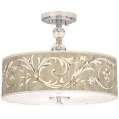 Laurel Court Giclee Wide Semi-Flush Ceiling Light - i like it Light Fixtures Bedroom Ceiling, Semi Flush Ceiling Lights, Bedroom Lighting, Light Green Walls, Overhead Lighting, Flush Lighting, Light Shades, Light Decorations, Lamp Light