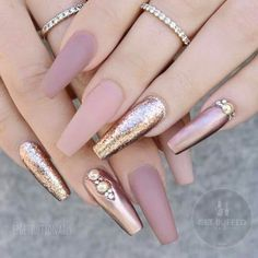 Pink and gold nail ideas and inspiration.