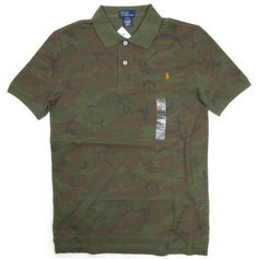 "Ralph Lauren Boy's ""CAMO"" Mesh POLO Shirts"