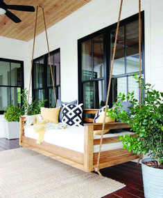 Porch Swing Replacement Parts . Porch Swing Replacement Parts . Plank and Pillow How to Build A Porch Swing Bed Porch Swing Cushions, Porch Chairs, Porch Swing Beds, Hanging Porch Bed, Room Swing, Porch Bench, Swing Chairs, How To Hang Porch Swing, Front Porch Swings