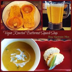 Roasted Butternut Squash Soup Recipe  #Thanksgiving