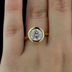 How about this modern bezel paired engagement ring with a classic round cut! How about this modern bezel paired engagement ring with a classic round cut! Morganite Engagement, Morganite Ring, Diamond Engagement Rings, Oval Engagement, Round Diamond Ring, Halo Diamond, Emerald Diamond, Blue Sapphire, Do It Yourself Fashion