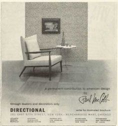Vintage Furniture Ads of the 1950s . Paul McCobb Design Furniture Chair (1955)