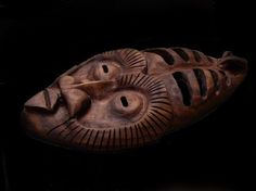 Wooden mask: walnut 2003 | Will Worsnopp-wood carving.