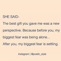 I never want to settle, I want to feel amazing everyday of my life knowing I've got an amazing soul as my wife (Divorce Encouragement) The Words, Favorite Quotes, Best Quotes, Under Your Spell, Encouragement, True Quotes, Qoutes, Beautiful Words, Quotes To Live By