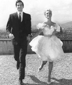 Clara (Yvette Mimieux) and Fabrizio (George Hamilton), Light in the Piazza, 1962