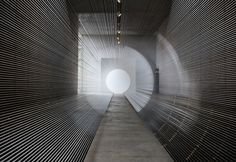 """""""Tube"""" is art installation made from VHS tapes and electric fans by Žilvinas Kempinas Site Art, Art Academy, Light Art, Installation Art, Art School, Sculpture, Lights, Black And White, Architecture"""