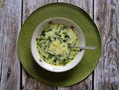 Zupa ze szpinakiem i kaszą jaglaną