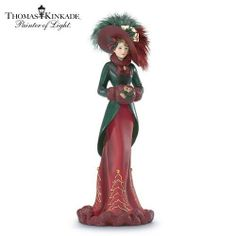 Thomas Kinkade in The Christmas Spirit Collectible Victorian Christmas Figurine | eBay