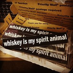 I NEED one of these. you know, just because...: Whiskey is my Spirit Animal by mr. nightshade, via Flickr