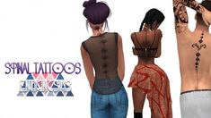 Simsworkshop: Spinal Tattoos by EnticingSims • Sims 4 Downloads