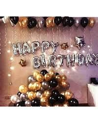 Balloon decorations are always on trend, and no matter what the function it is, balloons are the required things that increase the beauty of the event. We at Balloon HQ are specialize in all type of balloon decoration. For more details contact us+61 1300 596 611 or visit our website. Birthday Decoration Items, Silver Party Decorations, Balloon Decorations, Happy Birthday Hd, Happy Birthday Foil Balloons, Balloon Birthday, Birthday Garland, Party Emoji, Black And White Balloons