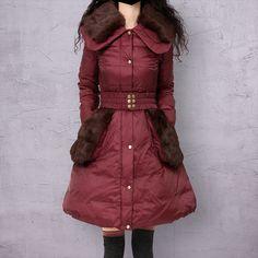 Artka женская ретро зимная одежда отложным воротником с длинными рукавами 90% утиный пух лоскутный высококачественный элегантный удобный длиный пуховик CK16232D