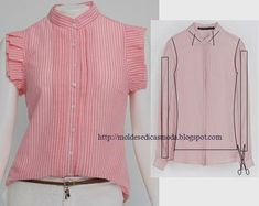20 Easy Sewing Projects for Beginners - Amately Shirt Refashion, Diy Shirt, Diy Clothing, Sewing Clothes, Umgestaltete Shirts, Diy Vetement, Techniques Couture, Diy Couture, Altering Clothes