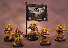 40k - Imperial Fists Space Marines by Robert Sta