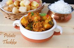 Potato Thokku or Urulaikizhangu Thokku is an easy to make and versatile South Indian side which pairs well with any rice dish or even Indian flatbreads.