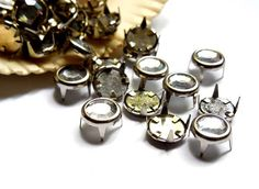100 Clear Jewel Studs by TreeChild1 on Etsy