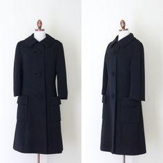 1960s Dan Millstein black tailored coat by inheritedattire