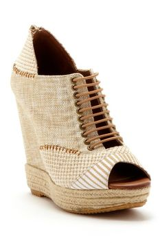 Make My Day Canvas Lace-Up Wedge by Chinese Laundry on @HauteLook