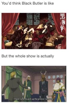 "Black Butler funny picture! ""No, i am merely on hell of a deer"""