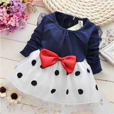 Cheap baby girl dress, Buy Quality baby dresses girl directly from China dress dress dress Suppliers: 2015 New Cute Baby Girls Dress Cotton and Lace Mini Ball Grown Dresses Kids Clothes For Years Baby Bowknot Polk dot dress Toddler Princess Dress, Toddler Girl Outfits, Baby Girl Dresses, Baby Dress, Kids Outfits, Fall Outfits, Toddler Girls, Princess Party, Dress With Bow