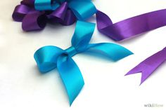 Make-a-Bow-Out-of-a-Ribbon // wikihow.com