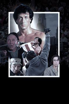 Rocky fan art movie poster mockup ((Core art version/no text)) Photoshop Sylvester Stallone, Stallone Movies, Rocky Film, Rocky Balboa, Love Movie, Character Art, Cinema, Photoshop, Fan Art