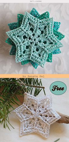 These beautiful Snowflake Crochets make beautiful ornaments for Christmas tree or at window for the perfect wintry feel. Crochet Thread Patterns, Crochet Snowflake Pattern, Crochet Snowflakes, Crochet Motif, Crochet Doilies, Crochet Yarn, Free Crochet, Crochet Coaster, Crochet Ornaments
